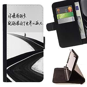 King Case - FOR Samsung Galaxy Note 3 III - orphan of the world - Prima caja de la PU billetera de cuero con ranuras para tarjetas, efectivo Compartimiento desmontable y correa para la mu?eca