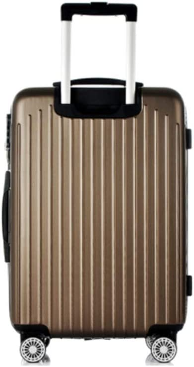 Runtongshanghang Universal Wheel Trolley case wear-Resistant Anti-Fall 20 inch Suitcase Men and Women suitcases Boarding The case Silver Color : Brown, Size : 26 inches