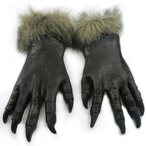 Zombie Devil Vampire Monster Horror Hands Ghost Gloves Cosplay Props Halloween Gloves Costumes Masquerade Party Supplies]()