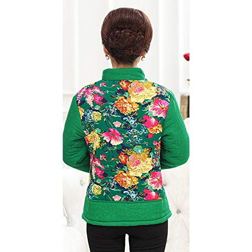 Giacca Cappotto Coreana Caldo Giù Outwear Kindoyo Floreale L'autunno Invernale E Stampa Verde Donne Alla Colletto wZPUE