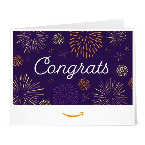 Amazon eGift Card - Print - Congrats Fireworks