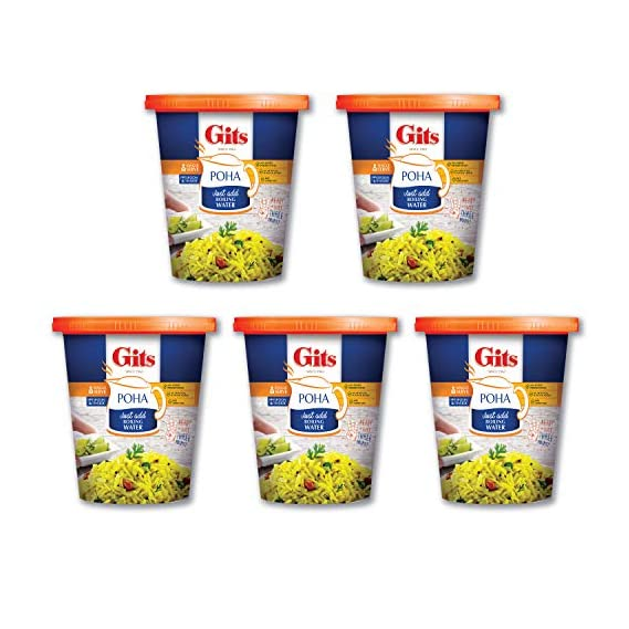 Gits Poha Cup 80GMS (Pack of 5)