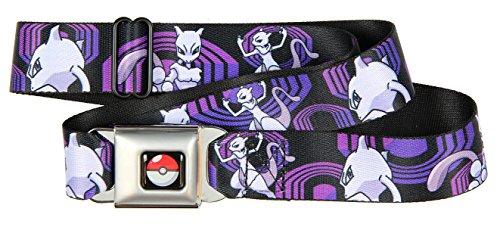 Pokemon Mewtwo Seat Belt Buckle (Buckle Down Belt Buckles)