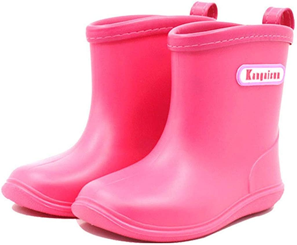 1 Pair Bjzxz Baby Infant Toddler Candy Color Rubber Rain Boots Soft Touch Sizes 13-18 Age Range from 1-6 Years Old
