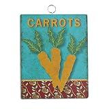 Grasslands Road Metal Carrots Garden Marker Stake, 4-Inch, Set of 5