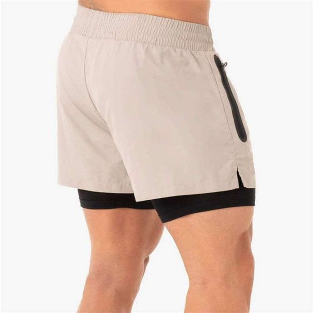 ME-CH-ENG Mens 2 in 1 Training Shorts Quick Dry Running Sports Workout Lightweight Shorts