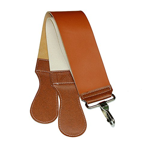BlueCosto Men's Shaving Straight Razor Strop Barber's Knife Leather Sharpening Strap Belt
