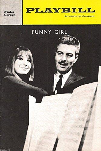 "Barbra Streisand""FUNNY GIRL"" Sydney Chaplin/Kay Medford/Jule Styne 1964 Broadway Playbill"