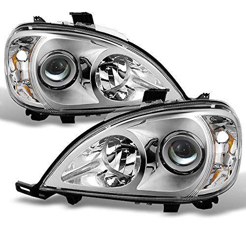 For 1998-2001 Mercedes Benz W163 ML320 ML430 M Class Projector Chrome Headlights Left/Right Headlamp ()