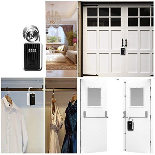 Key Lock Box Storage Safe Box Realtor 4-Digit Combination Lock Box Padlock Security for Home Garage School Spare House Car Keys by xixiw (Image #6)