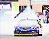 AUTOGRAPHED 2013 Martin Truex Jr. #56 NAPA Auto Parts Racing SONOMA RACE WIN (Victory Burnout) Waltrip Racing Team Signed Picture 8X10 Inch NASCAR Glossy Photo with COA