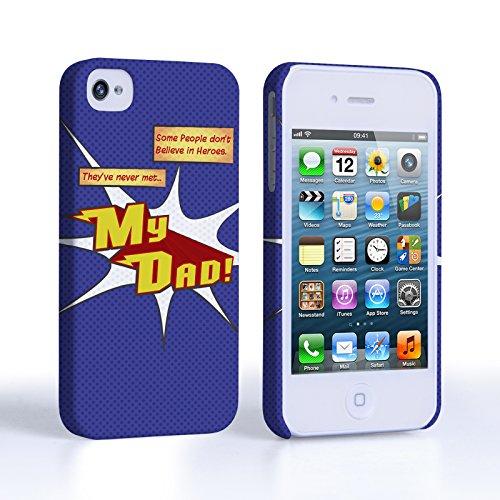 Caseflex iPhone 4 Coque Rigide Bleu Dessin Animé Mon Papa Le Héro