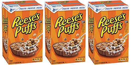 Reeses Puffs, Peanut Butter Cereal, 49.5 Ounce (Pack of ()