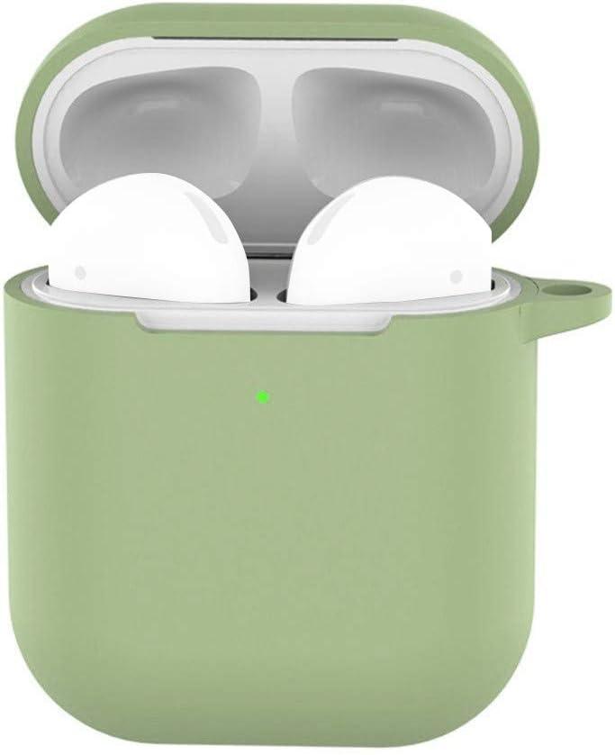 Orange Wanshop f/ür Apple AirPods Silikon H/ülle Soft Case f/ür Apple AirPods Schutzh/üllen-Silikonh/ülle Schutz Kopfh/örer Tasche f/ür In Ear Ohrh/örer