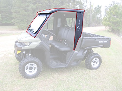 Steel Complete Cab Enclosure System No Doors Can-Am 16-19 Defender Fold Down Frt