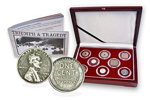 Signature Coin Set (1945 WW II Pacific Theater 8 Coin Presentation Box Set, Certificate and Story Card. Fine)