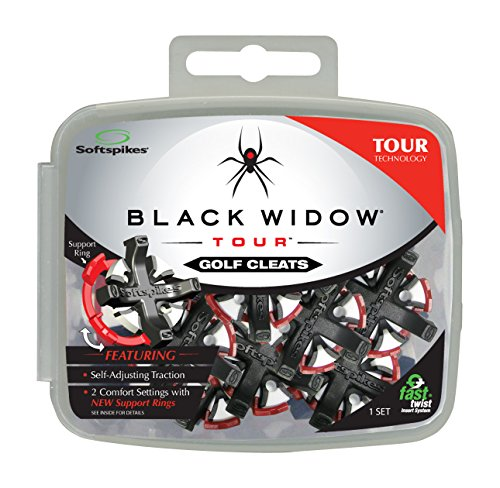 Softspikes Black Widow Tour Fast Twist Golf Cleats (16 ct. - Golf Spikes
