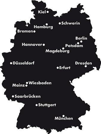 Deutschland Karte Städte.Grazdesign 630371 57 070 Wandtattoo Sticker Für Wohnzimmer Büro