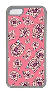 iPhone 5c Cases - Wholesale Summer Cool TPU Transparent Cases Personalized Design Pink Flower by icecream design