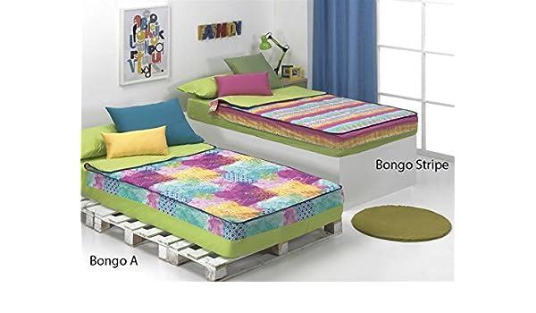 CAÑETE - Saco nórdico Bongo Stripe Cama 105 - Color Fucsia sin Relleno: Amazon.es: Hogar