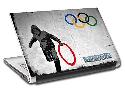 Banksy Olympic Games Personalized LAPTOP Skin Vinyl Decal Sticker WITH NAME L53 - 15.6'' by Dizzy