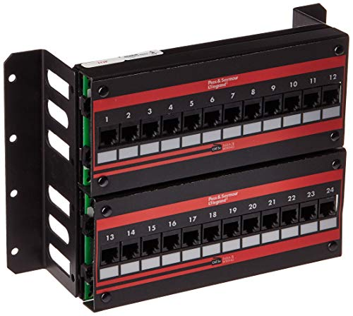 PC Hardware : ON-Q Data Patch Panel - Wall Mount 24-Port Cat 5E Wall Mount Patch Panel (JP24845C5E)