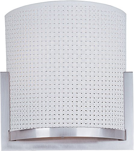 ET2 E95080-100SN Elements 1-Light Wall Sconce, Satin Nickel Finish, Glass, G9 Xenon Bulb, 100W Max., Dry Safety Rated, 3500K Color Temp., Electronic Low Voltage (ELV) Dimmable, Bubble Glass Shade Material, 420 Rated Lumens