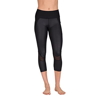 90 Degree By Reflex Womens Cire With Mesh Fashion Capri