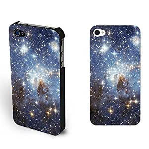 Nebula Series Colorful Bright Galaxy Space Hard Iphone 4 4s Case Cover Customized Cell Phone Protector (glitter galaxy)