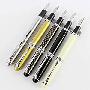 5 pcs Jinhao X750 Fountain Pen in Different Colors with Simple Pen Bags