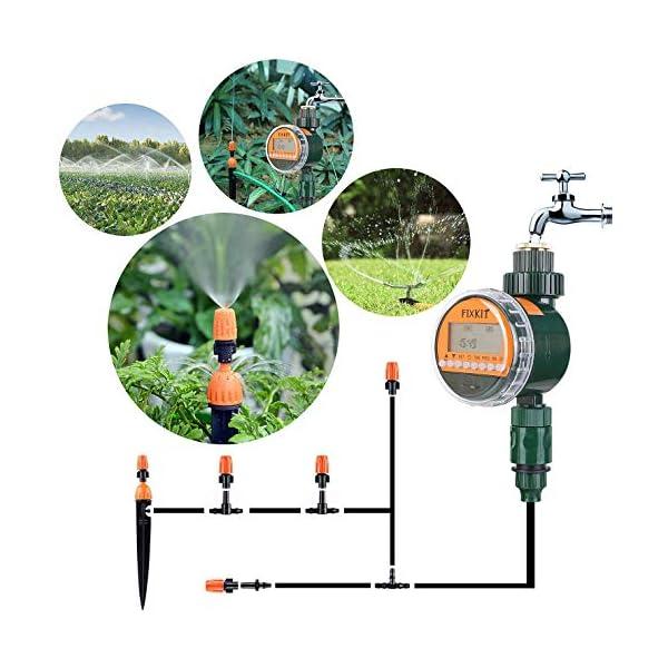 FIXKIT Programmatore di Irrigazione,Timer Irrigazione Automatico con LED Display, Elettrovalvola Irrigazione Giardino… 6 spesavip