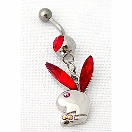 Amazon Com Crystal Austrian Playboy Bunny Belly Button Rings 316l
