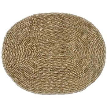 Amazon Com Acura Rugs Jute Natural Rug Oval 6 6 Quot X 8