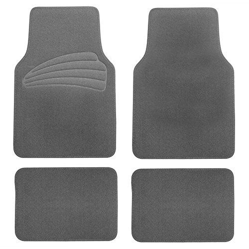 (FH Group F14402GRAY Gray Premium Carpet Floor Mats with Heel Pad)