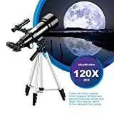 Aomekie 70mm Travel Scope Telescope for Adults Kids and Astronomy Beginners Refractor Telescopes with Adjustable Tripod and Backpack