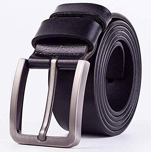 Price comparison product image CTO Herren Ledergürtel Freizeit Nadel Button Button Bullskin Belt, B, 125Cm