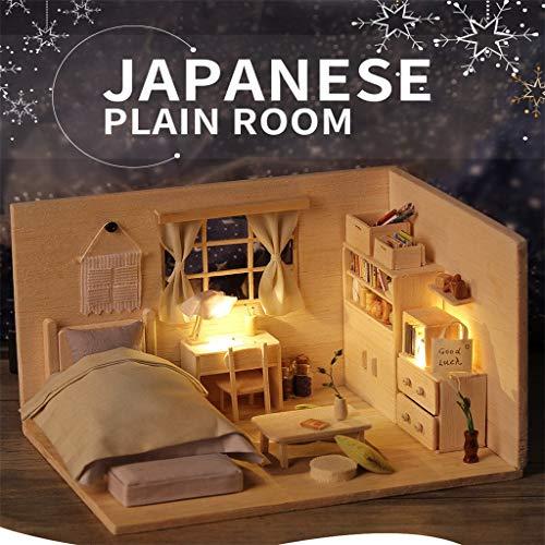 PSFS Mini DIY Doll House Japanese Plain Room DIY Miniature Dollhouse Kit Time Apartment DIY Dollhouse Kit, Factory Outlet ()