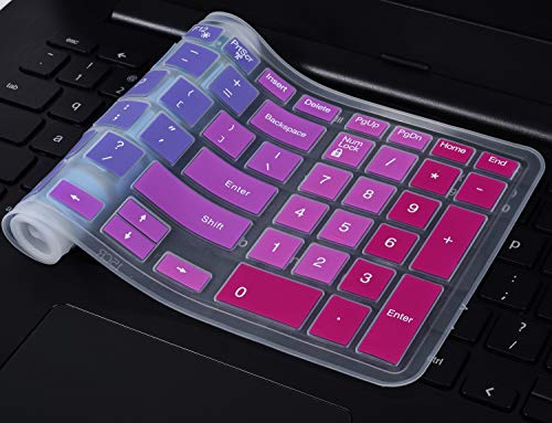 Colorful Keyboard Cover Compatible with 2019/2018 Dell Inspiron 15 3000 5000 7000 15.6
