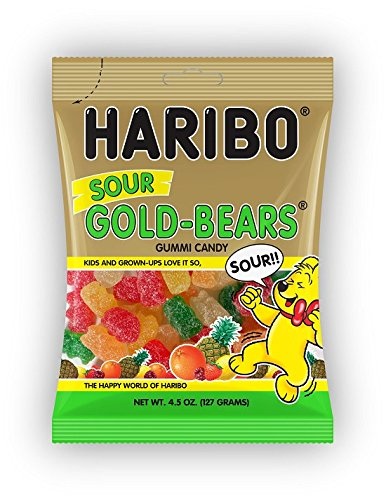 Haribo of America Sour Gold-Bears Candy, 4.5 Ounce (Pack of 12)