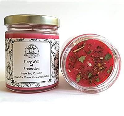 Fiery Wall of Protection 6 oz Soy Candle Hoodoo Wiccan Pagan Voodoo