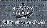 Toland Home Garden Off With Your Shoes 18 x 30 Inch Decorative Floor Mat Queen Crown Doormat