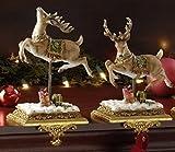 "Set of 2 Josephs Studio Reindeer Christmas Stocking Holders 8.5"""