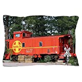CafePress - Santa Fe Railway Train Caboose, Willia - Standard Size Pillow Case, 20''x30'' Pillow Cover, Unique Pillow Slip