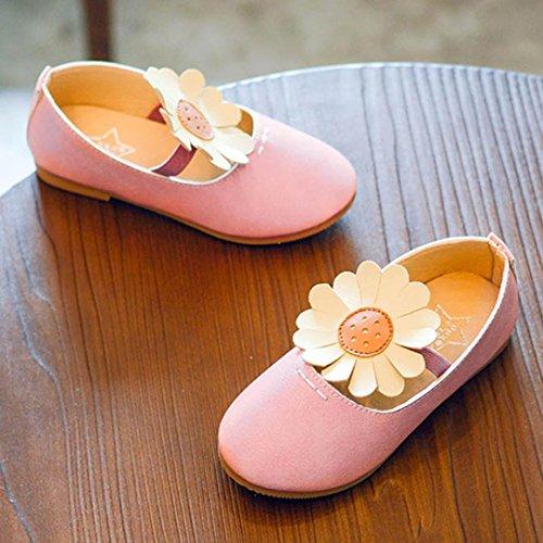 IGEMY Kinder Baby Mädchen niedlich Sun Flower Dance Nubukleder Schuhe Braun