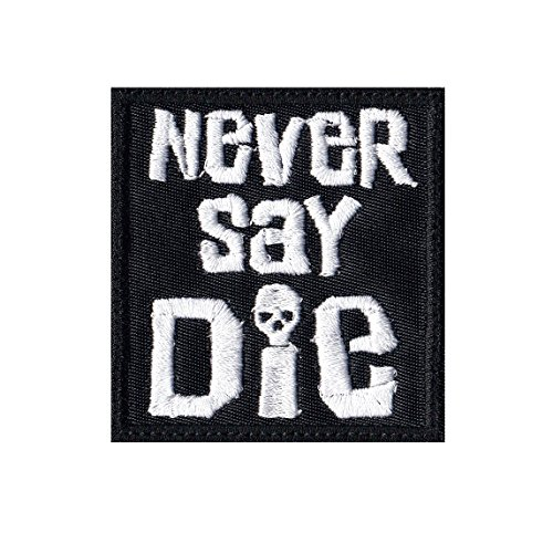 Never Say Die Goonies Skull Pirates Tactical Morale Hook+Loop Patch
