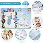 Baby-Monthly-Milestone-Blanket-Boys-Girls-Ultra-Soft-Fleece-with-2-Markers-Large-Animal-Photography-Background-Blanket-for-Infants-Newborns-60-x-40-in-1-to-12-Weeks-Months