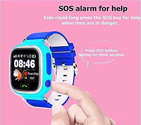 Reloj inteligente para Android niños reloj inteligente GPS pantalla táctil reloj inteligente Q90 con WiFi posición SOS Llamada funcionamiento recordatorio ...