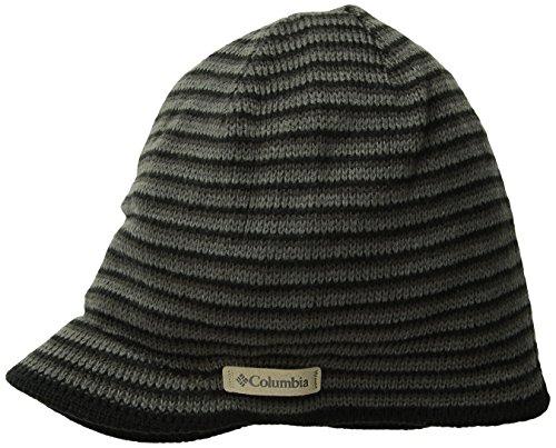 Columbia Men's Northern Peak Visor Beanie, Black/Charcoal, One Size