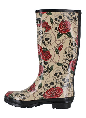 amp; Skull Pour Valley Femme Bottes Roses Wyre wq78UHq