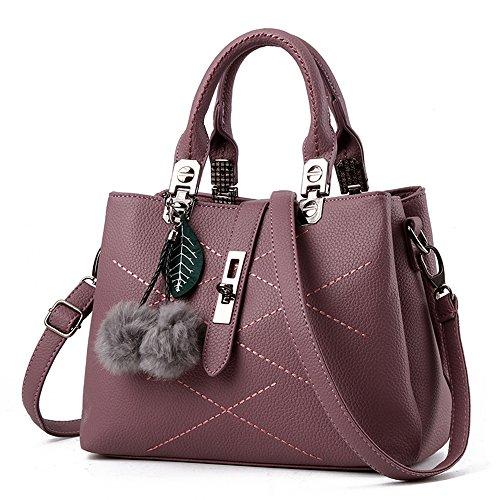 VANCOO 2017 new wave fashion ladies hangbags ladies Top-handle bag women shoulder bag Female bag (Black) Purple